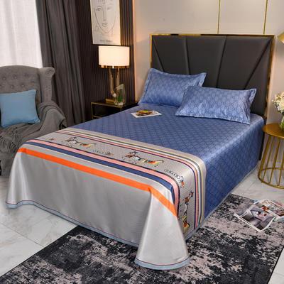 2021新款提花冰丝席冰丝凉席 2.3*2.5m床单  枕套2只 时尚潮流