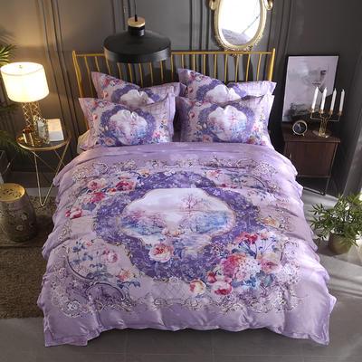 2018大版数码印花四件套 1.8m(6英尺)床 暮光之城-紫