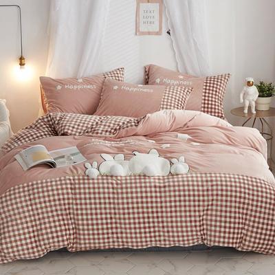 2019新款-宝宝绒兔子家园四件套 床单款1.8m(6英尺)床 萌驼