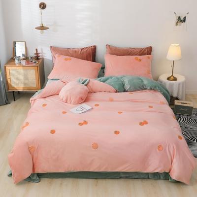 2019新款-橘子四件套系列 床单款1.5m床-1.8m床 粉橘子