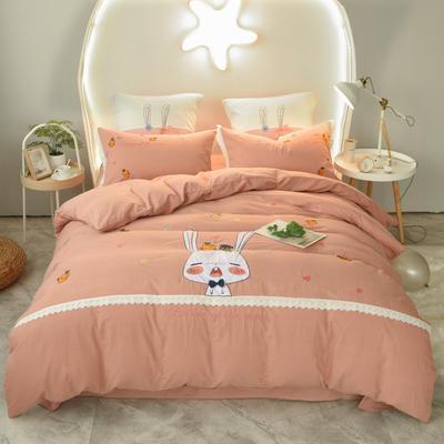 2020新款-兔子先生四件套 床单款1.5m(5英尺)床 浅咖