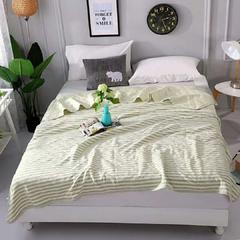 易佳家居 天竺棉彩棉盖毯夏被空调被 200X230cm 绿色