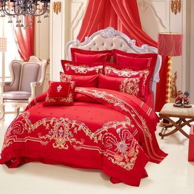 婚庆百年琴瑟 1.5m(5英尺)床 四件套