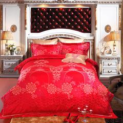 婚庆/全棉/提花//四件套/六件套——迷漾婚典 1.5m(5英尺)床 四件套