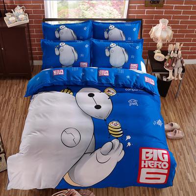 2018新款活性棉大白系列四件套 1.5m(5英尺)床 梦幻大白