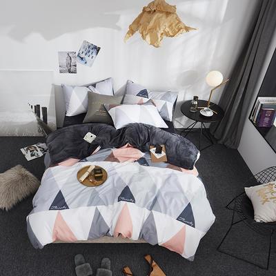2018新款专利爆款三边拉链棉加绒四件套 1.2m(4英尺)床 梦幻爱丁堡