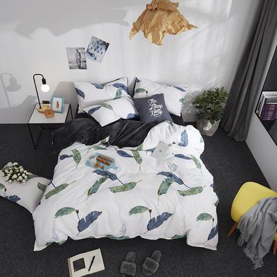 2018新款专利爆款三边拉链棉加绒四件套 1.2m(4英尺)床 叶影飘香