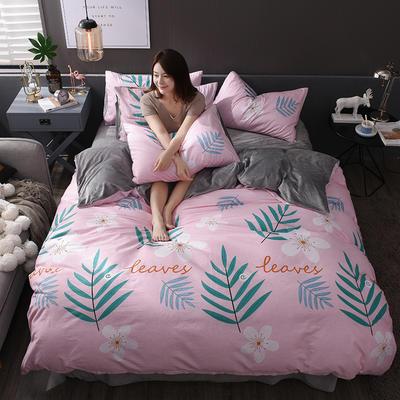 2018新款专利爆款三边拉链棉加绒四件套 1.2m(4英尺)床 花彩童话