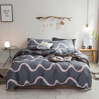 2018新款专利爆款三边拉链棉加绒四件套 1.2m(4英尺)床 缤纷飞扬