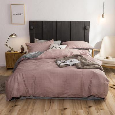 2018新款专利爆款三边拉链棉加绒四件套 1.2m(4英尺)床 雅格粉
