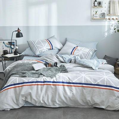 2018新款 全棉三拉链单被套 150x200cm 法兰西印象