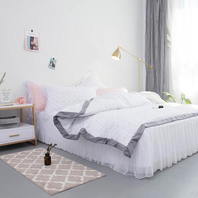 2019新款功能型简系列莫代尔冰丝夹棉四件套 2.0m四件套 简-白