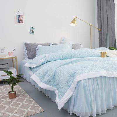2019新款功能型简系列莫代尔冰丝夹棉四件套 2.0m四件套 简-蓝