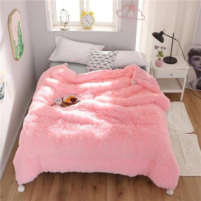 2019新款水貂绒保暖被被芯 150x200cm5.5斤 水貂绒-粉色