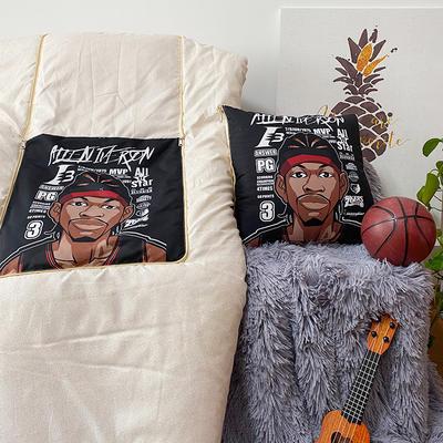 2020新款磨毛NBA系列抱枕被(可定制) 40X40cm 艾弗森