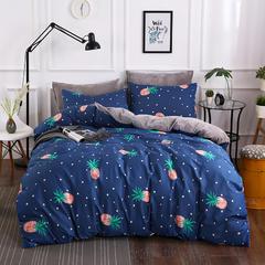 2019新款全棉+水晶绒系列单被套 155x205cm 菠萝