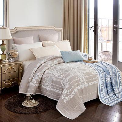 2018新款纯棉色织水洗四层纱布毯 200cmx230cm 皇家盛典-ab-灰