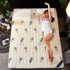 2018新款学生宿舍绗缝薄款印花防滑床垫 100*200cm 菠萝派