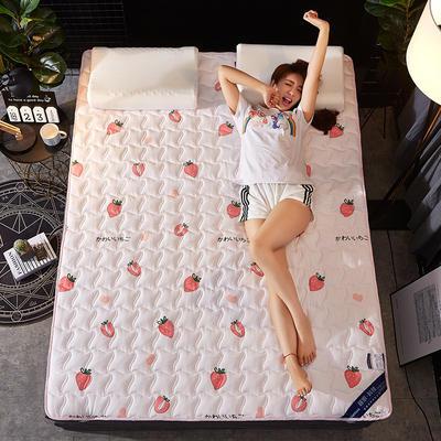 2019新款学生宿舍床垫 绗缝薄款ins印花防滑床垫宿舍床褥 90*200cm 甜心草莓