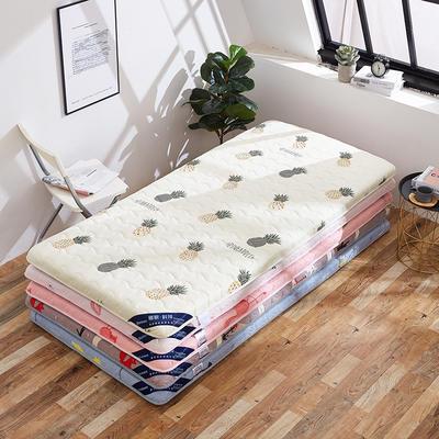 2019新款-网红ins水洗棉印花学生床垫 加厚学生宿舍床垫 90*200cm 甜心草莓