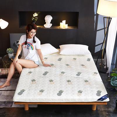 新款水洗棉印花床垫加厚 网红ins学生宿舍床垫 100*200cm 菠萝派