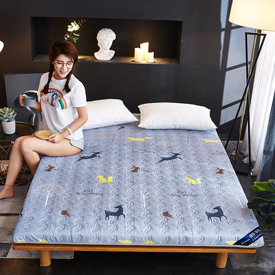 新款水洗棉印花床垫加厚 网红ins学生宿舍床垫 100*200cm 动物森林