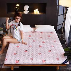 2018新款水洗棉印花磨毛床垫 90*200cm 甜心草莓