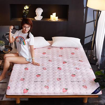 新款水洗棉印花床垫加厚 网红ins学生宿舍床垫 100*200cm 甜心草莓
