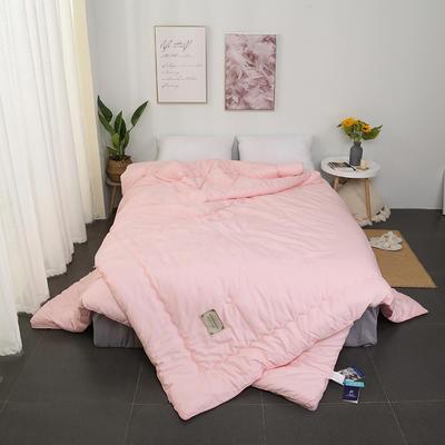 2018新款60全棉贡缎子母被二合一双胎被 200X230cm12斤 粉色
