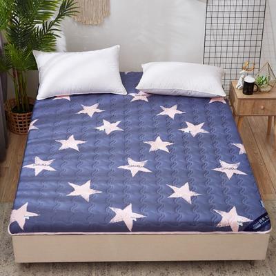 2019新款水洗棉床垫加厚6cm 90*200cm 蓝色星空
