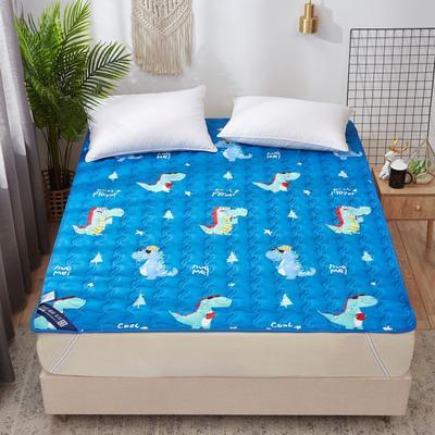 2019新款学生宿舍床垫 绗缝薄款ins印花防滑床垫宿舍床褥 100*200cm 恐龙乐园