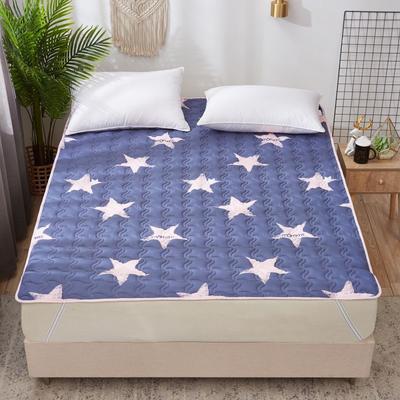 2019新款学生宿舍床垫 绗缝薄款ins印花防滑床垫宿舍床褥 100*200cm 蓝色星空