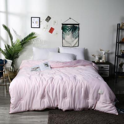 新款60提花木本大豆春秋被被大豆冬被 150x200cm3.8斤春秋被 粉色