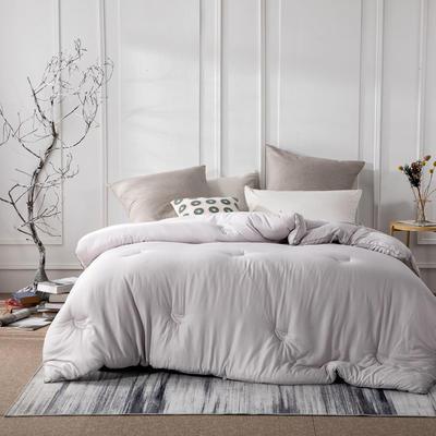 新款全棉提花莫代尔大豆被春秋被大豆纤维冬被四季可用 150x200cm3.8斤春秋被 灰色