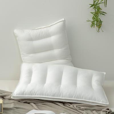 新款全棉贡缎分区立体面包枕枕头枕芯-48*74cm 面包枕