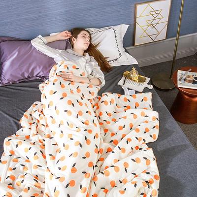 2020新款凉感丝玻尿酸夏被 150*200cm单夏被 小橙子