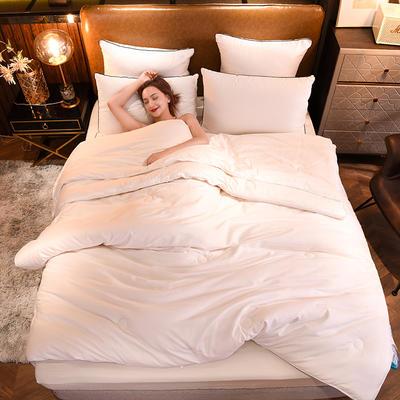 2020新款全棉子母被 大豆被春秋被 二合一被全棉加厚冬被被子被芯 150x200cm3.5斤春秋被 白色