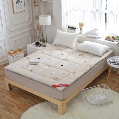 磨毛印花软学生床垫可折叠4斤6斤8斤素色榻榻米寝室用品 150*200 4斤 小树林