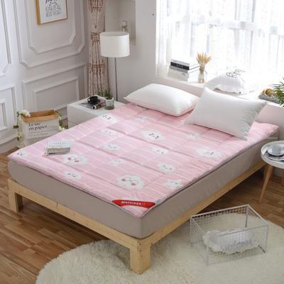 磨毛印花软学生床垫可折叠4斤6斤8斤素色榻榻米寝室用品 150*200 4斤 富贵花开