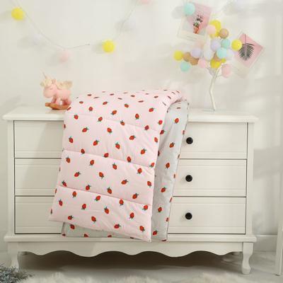 全棉印花13372幼儿园卡通儿童纤维秋冬被 1.2*1.5m 2.6斤 小草莓