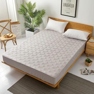 东宇 13372全棉素色绗缝夹棉床笠 软床垫床护垫床罩 100cmx200cm 灰色