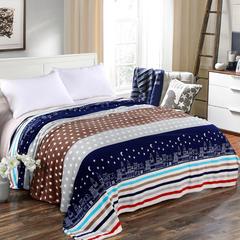 2018新款法莱绒毛毯(随机) 0.65*0.95m(随机) 星辰点点