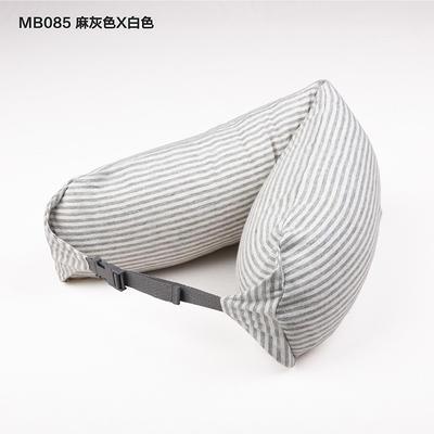 2019新款u型枕颈部靠枕飞机旅行枕护颈椎脖子枕午休趴睡枕头 67*16.7cm 灰白条纹