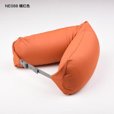 2019新款u型枕颈部靠枕飞机旅行枕护颈椎脖子枕午休趴睡枕头 67*16.7cm 桔色滑款