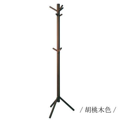 2019新款榉木落地衣架-分销商 宽48x深43x高173.5cm 胡桃色