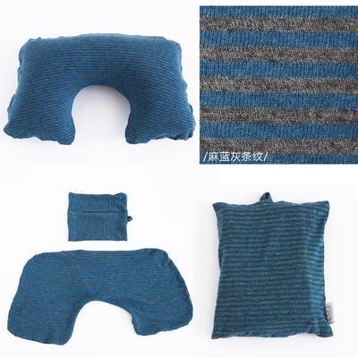 2019新款充气枕 打开:27.5cm *50cm 麻蓝灰