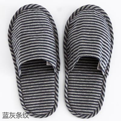 2019新款日式便携拖鞋旅行旅游折叠拖鞋 其它 蓝灰条纹