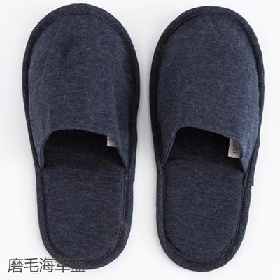 2019新款日式便携拖鞋旅行旅游折叠拖鞋 其它 磨毛海军蓝