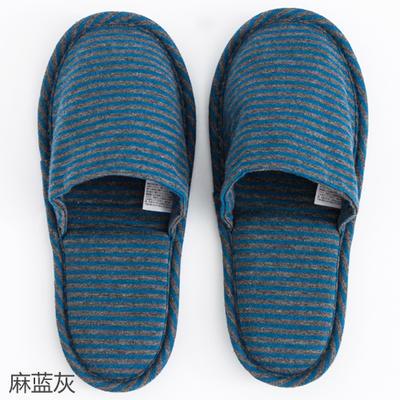 2019新款日式便携拖鞋旅行旅游折叠拖鞋 其它 麻蓝灰