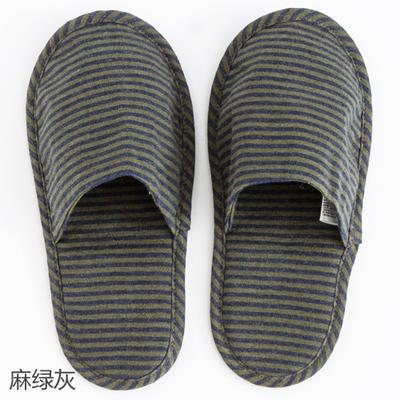 2019新款日式便携拖鞋旅行旅游折叠拖鞋 其它 麻绿灰